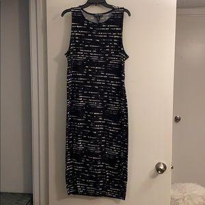 Forever 21 black & white midi dress